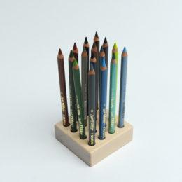 Stoere kleuren set Lyra kleurpotloden + blok